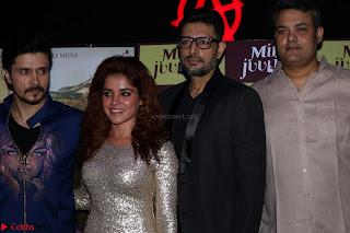 Pia Bajpai and Darshan Kummar Launching the Music of movie Mirza Juuliet 012.JPG