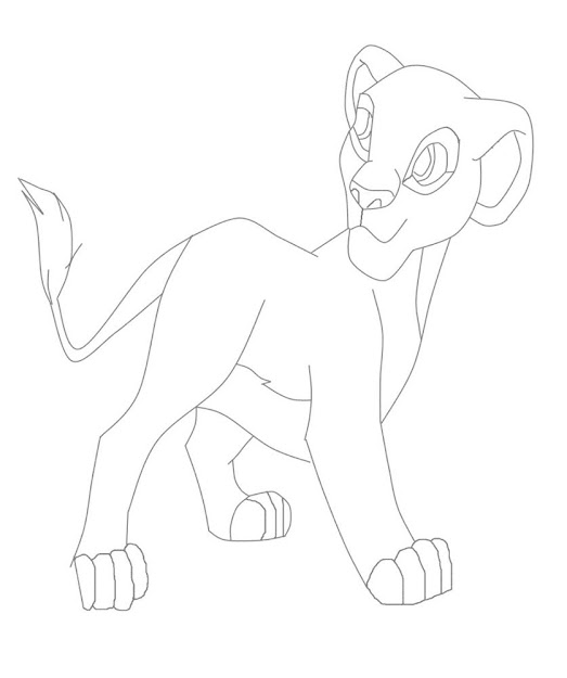 Female Lioness Coloring Pages