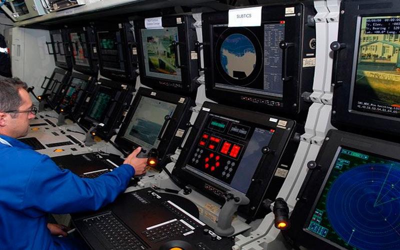 Array sistema de sonar de escolta remolcado