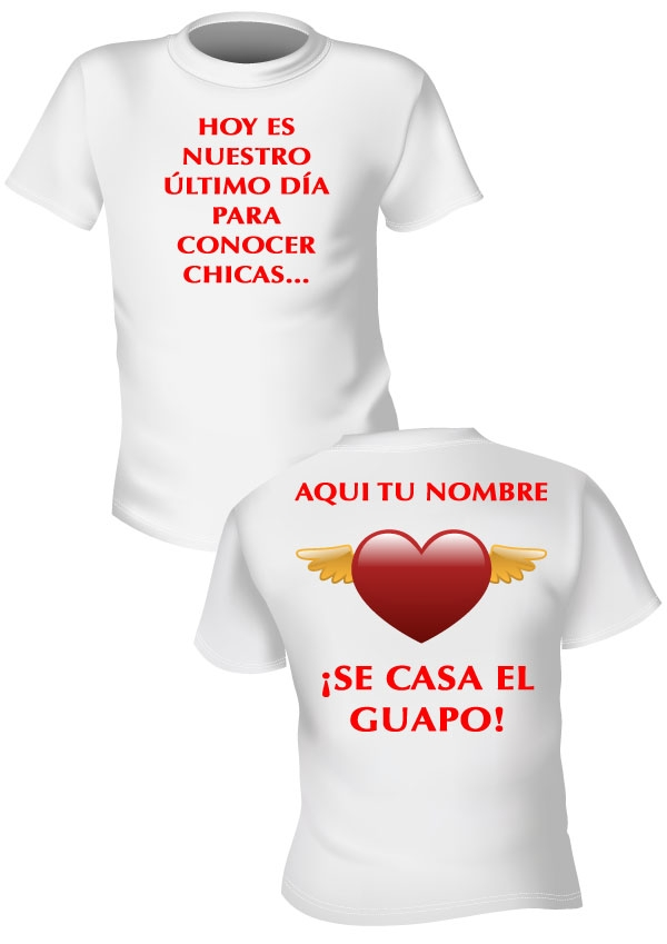 CAMISETAS PARA TUS DESPEDIDAS - Big Eventos 93ff874352c03