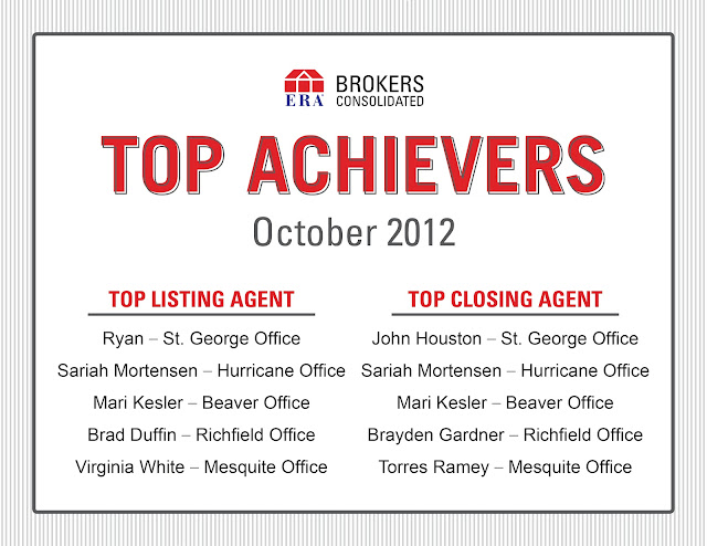 Congratulations to agents in St. George, Hurricane, Beaver, Richfield and Mesquite