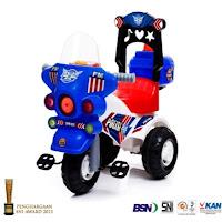 sepeda motor polisi mainan