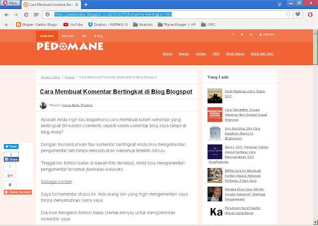 kenapa blog tidak ada di Google