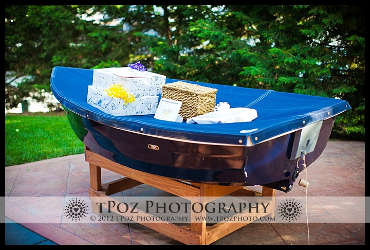 Gift Table Boat Port Annapolis Marina Wedding