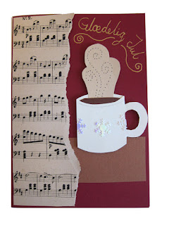 DIY Christmas card with cup