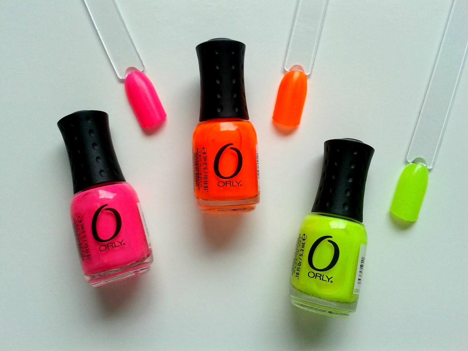Orly Mani Mini Lacquer Trio Neon Shades Swatches Beauty Review