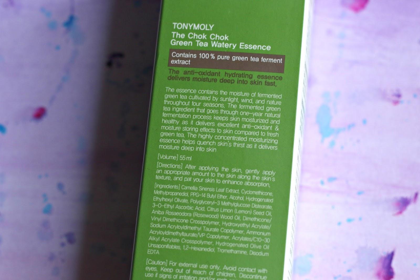 The Chok Chok Green Tea Watery Essence by TONYMOLY #22