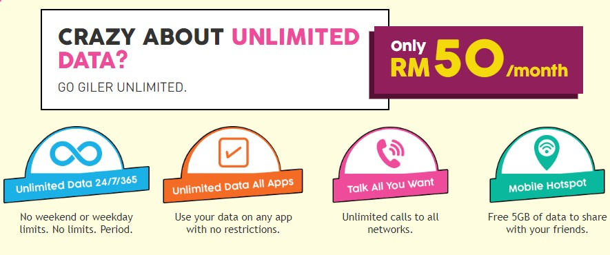 U Mobile Giler Unlimited Plans With Unlimited Data For As