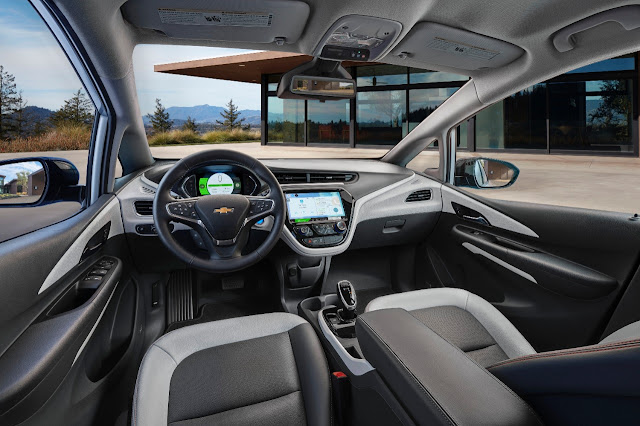 2017 Chevrolet Bolt LT rear interior - Subcompact Culture