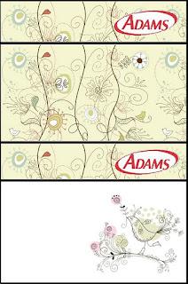 Etiqueta Golosinas Adams para Imprimir Gratis de Jardín Vintage.