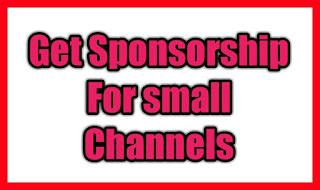 sponsorship for small channels