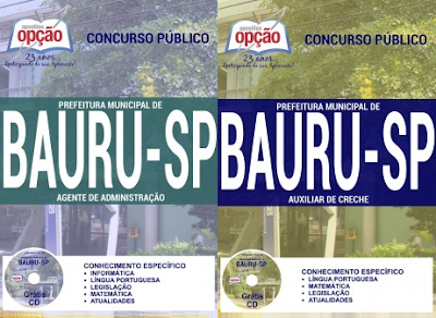 apostila Processo Seletivo  Prefeitura Municipal de Bauru 2017