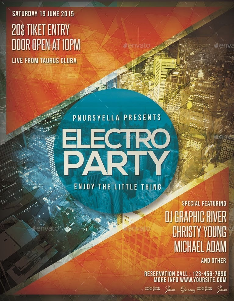 Night Party Event Flyer / Poster Template