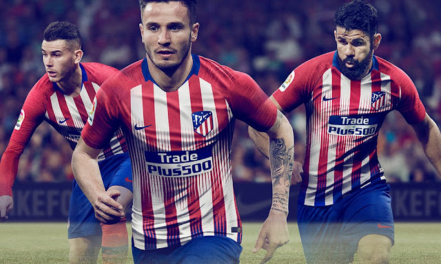 Atletico Madrid 2018/19 Kit - Dream League Soccer Kits - Kuchalana