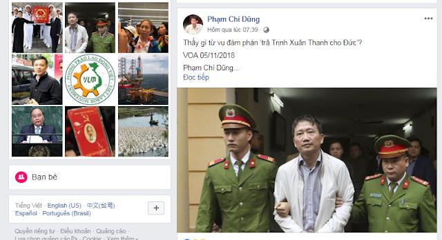 Phạm Chí Dũng phát điên vì Trịnh Xuân Thanh