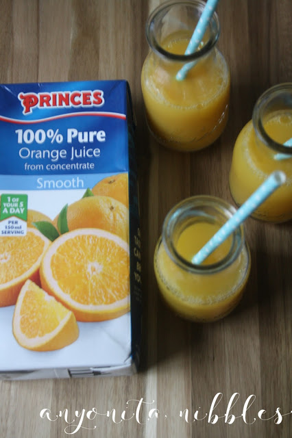 Princes from concentrate orange juice, one of your 5 a day | Anyonita-nibbles.co.uk