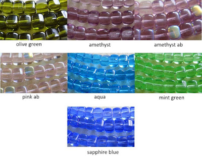 square glass beads