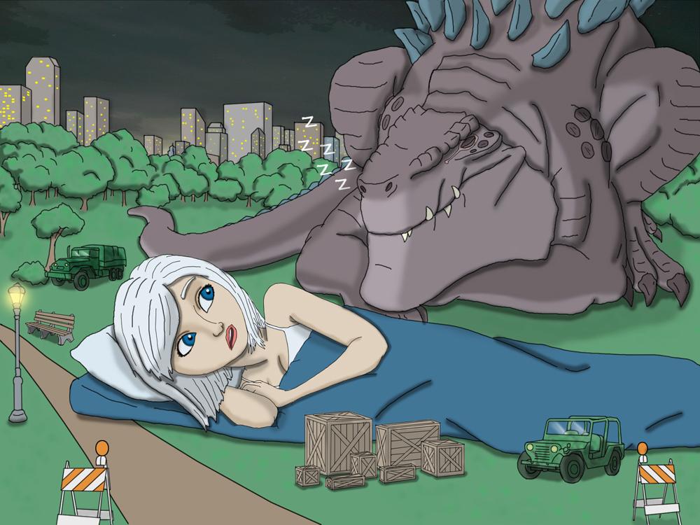 Cartoon Sex Godzilla