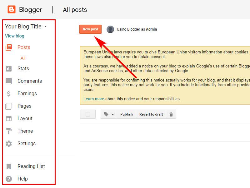 how to create a blogger blog, create a blog
