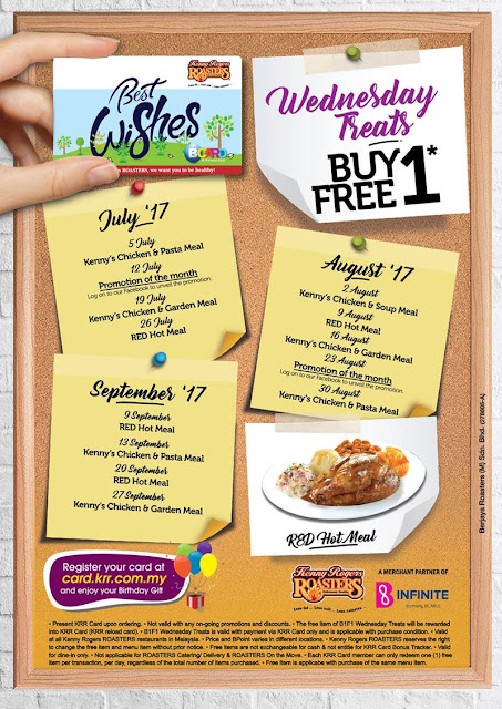 Kenny Rogers ROASTERS Malaysia KRR Buy 1 Free 1 Wednesday Treats