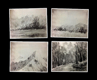 Small landscape study works created using water soluble graphite sticks by Camlin. By Manju Panchal