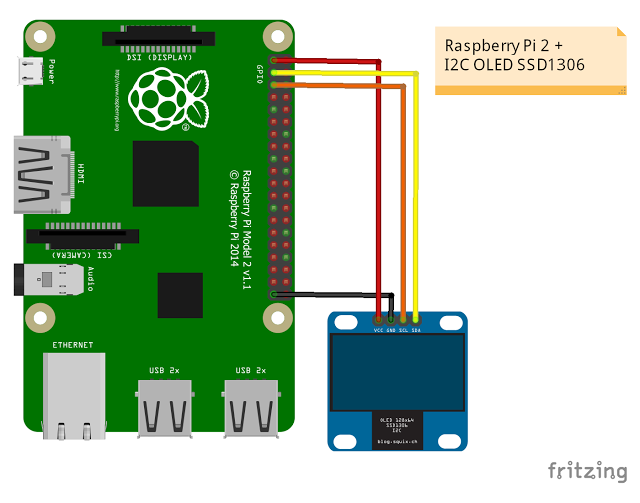 raspberry pi 3 model b wiring diagram 1984 porsche 944 radio projects connect oled i2c display hardware board we use pi3