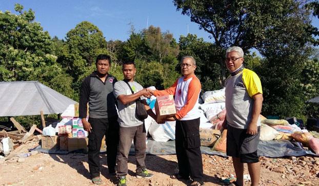 Relawan asal Lumajang yang berada di Lombok