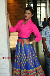 Actress Mannar Chopra in Pink Top and Blue Skirt at Rogue movie Interview  0043.JPG