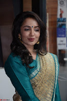 Tejaswi Madivada looks super cute in Saree at V care fund raising event COLORS ~  Exclusive 033.JPG