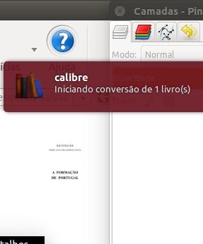 Conversion iniciated Calibre