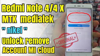 Xiaomi Mi NOTE 4 4X MT6797 Dead boot Hang Logo Mi Account Remove Fix
