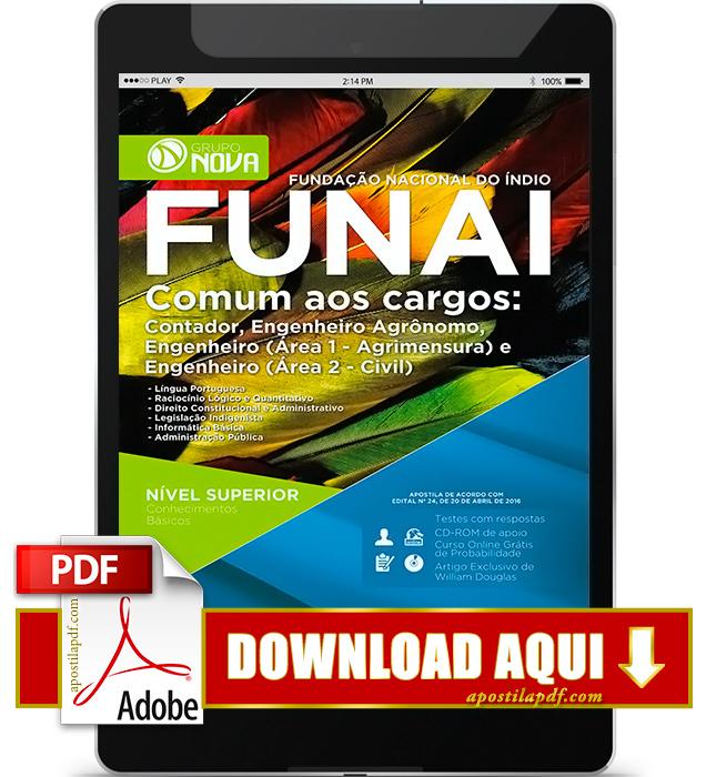 Apostila FUNAI 2016 Engenheiro PDF Download