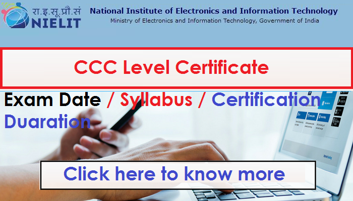 CCC Level certificate Online - How to apply , Online course duration ...