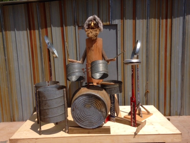 Found Object Art: 'Lenny the Drummer', by Fred Leach
