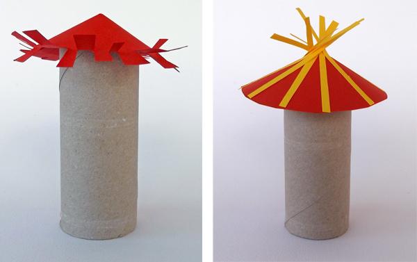 κατασκευές από χάρτινους κυλίνδρους, χειροτεχνίες από ρολά χαρτί υγείας,