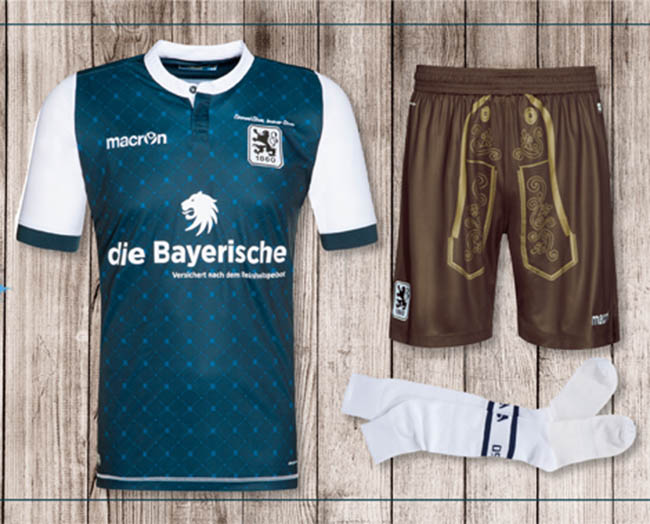 das neue 1860 m nchen oktoberfest trikot ist in dunkelblau. Black Bedroom Furniture Sets. Home Design Ideas