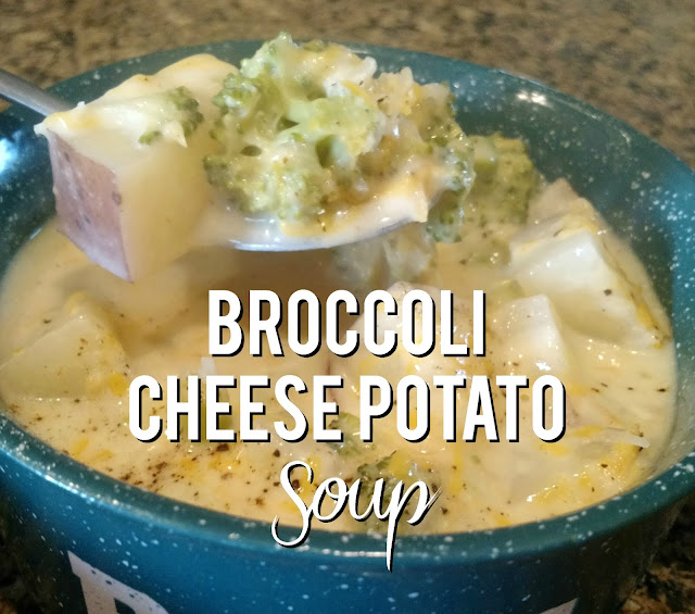 Broccoli Cheese Potato Soup--Made with fresh ingredients and so good!