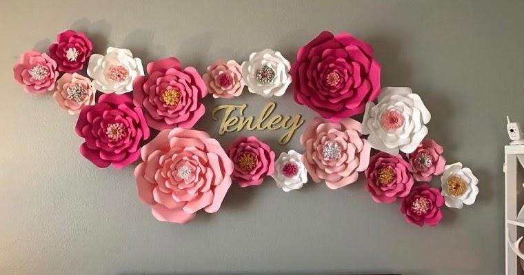 Tutorial Membuat Bunga Kertas Untuk Hiasan Dinding