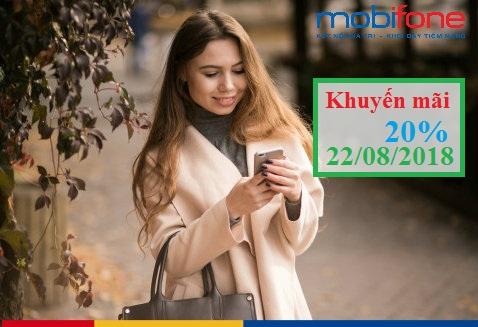 MobiFone khuyến mãi ngày 22/8/2018