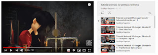 Channel Youtube Tempat belajar cara membuat animasi 3D menggunakan software Blender