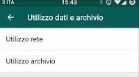 Liberare spazio in Whatsapp e pulire l'utilizzo archivio