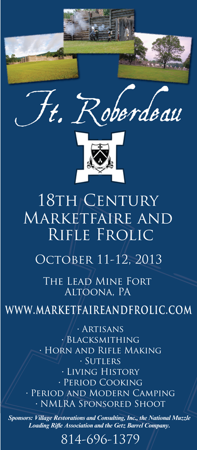 Fort Roberdeau 18th Century Marketfaire and Rifle Frolic