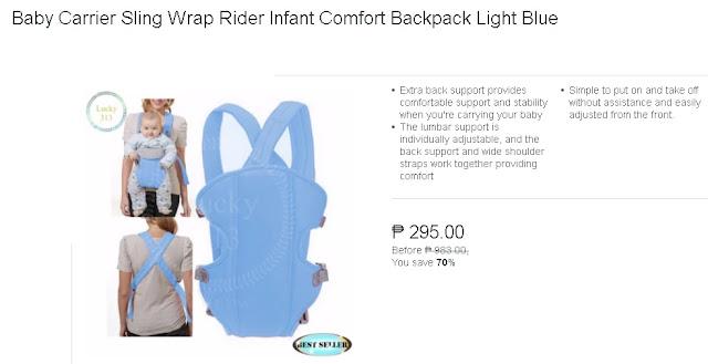 Baby Carrier Sling Wrap Rider Infant Comfort Backpack Light Blue