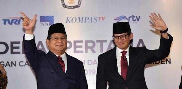 Prabowo-Sandi Kembali Unggul Di Medsos