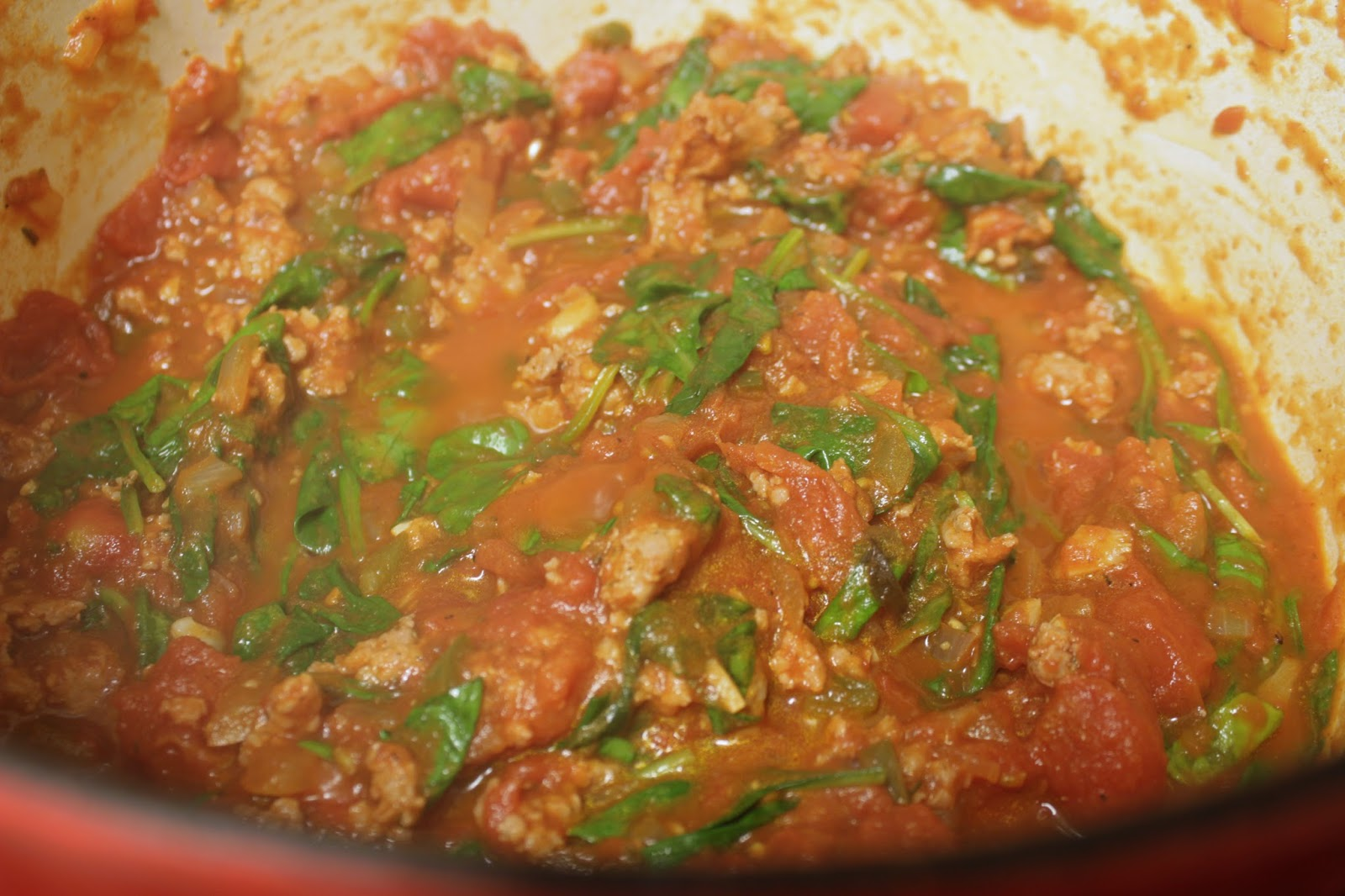 Pasta With Sausage, Spinach, and Jalapeño