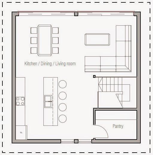 Planos de casa 3 pisos moderna peque a planos de casas for Distribucion apartamento 50 m2