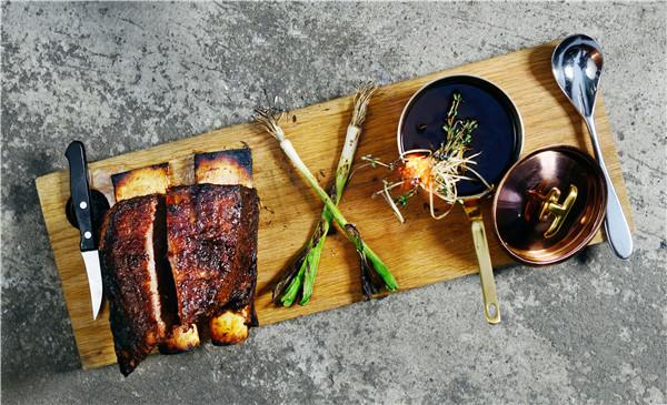 Chef Talib Hudda's creative plates include beef carpaccio, chicken globe with falafel and a strawberry semifreddo with chocolate cake.