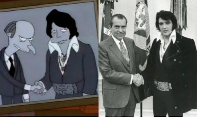 El día que Elvis visito la Casa Blanca, Los Simpsons