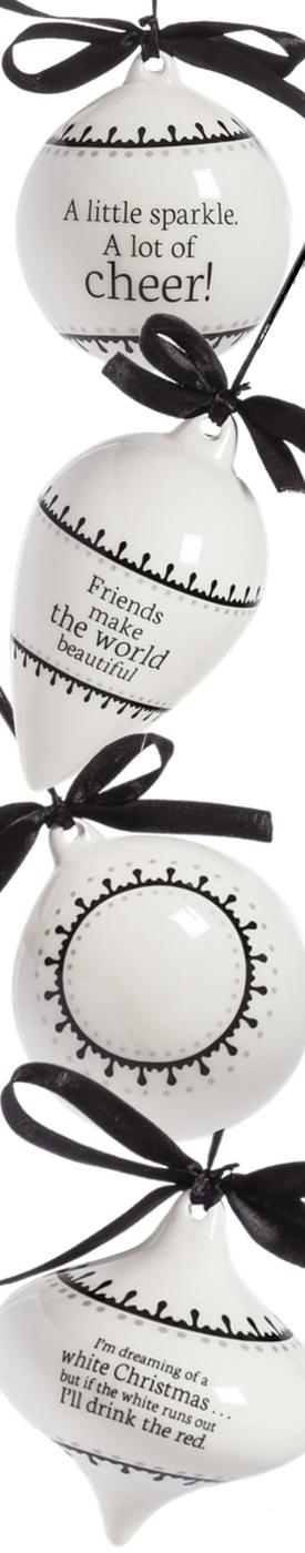 Wayfair Classic-4-Piece-Ceramic-Ornament-Set