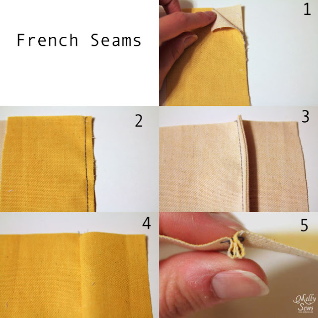 How to sew French seams - How to finish seams - Melly Sews
